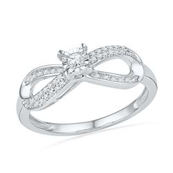 0.20 CTW Diamond Infinity Promise Bridal Ring 10KT White Gold - REF-22W4K