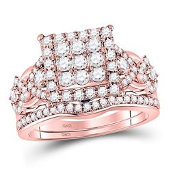 1.23 CTW Diamond Ring 14KT Rose Gold - REF-153F4W