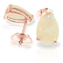 Genuine 1.55 ctw Opal Earrings Jewelry 14KT Rose Gold - REF-22X8M
