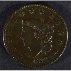 1832 LARGE CENT, XF