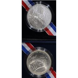 1991 USO & 2012 STAR SPANGLED BANNER UNC DOLLARS