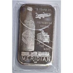 1 OZT .999 (COKE BAR) MERIDIAN, MS