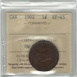 Canada 1902 Large Cent ICCS EF45
