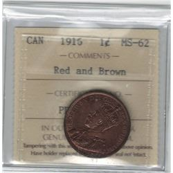 Canada 1916 Large Cent ICCS MS62 R&B