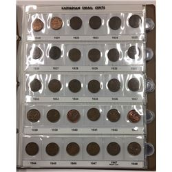 Canada 1920 to 2012 Small Cent Collection in UNI-SAFE Binder