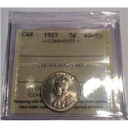 Canada 1927 5 Cent ICCS AU55