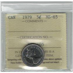 Canada 1979 5 Cent ICCS MS65