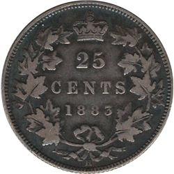 Canada 1883 Silver 25 Cent F12