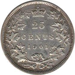 Canada 1901 Silver 25 Cent VF