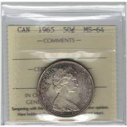 Canada 1965 Silver 50 Cent MS64