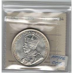 Canada 1936 Silver Dollar ICCS MS64