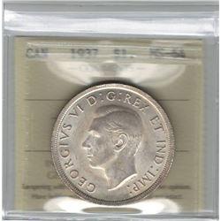 Canada 1937 Silver Dollar ICCS MS64