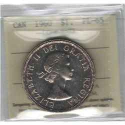 Canada 1960 Silver Dollar ICCS PL65