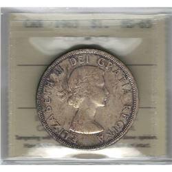 Canada 1963 Silver Dollar ICCS MS65