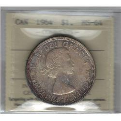 Canada 1964 Silver Dollar ICCS MS64