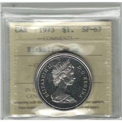 Canada 1973 Dollar ICCS SP67 Cameo