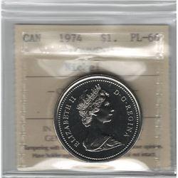 Canada 1974 Winnipeg Nickel Dollar ICCS PL66