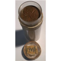 Canada 1948 1 Cent Roll Circulated (50 pcs)