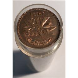 Canada 1940s and 1950s 1 Cent Circulated Roll (50 pcs)