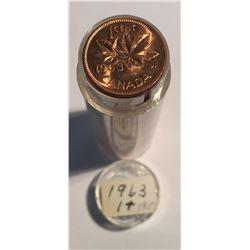 Canada 1963 1 Cent BU Roll (50 pcs)