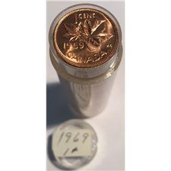 Canada 1969 1 Cent BU Roll (50 pcs)