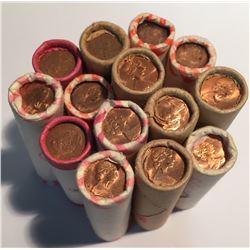 Canada 14 Mystery Rolls 1 Cent. (50 pcs per roll)