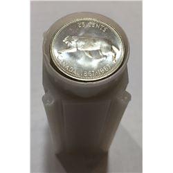 Canada 1967 Silver 25 Cent BU Roll (40 pcs)