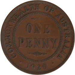 Australia 1920 Penny No Dots