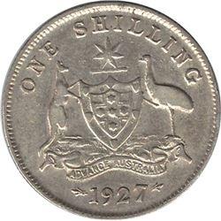 Australia 1927 Silver Shilling