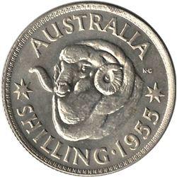 Australia 1955 Silver Shilling