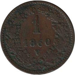 Austria 1860V 1 Kreuzer