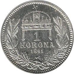 Austria 1895 Silver Corona