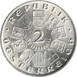 Austria 1931 Silver 2 Schilling