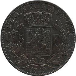 Belgium 1849 Silver 5 Franc