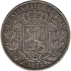 Belgium 1873 Silver 5 Franc