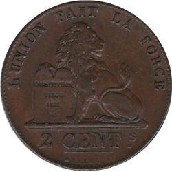 Belgium 1844 2 Centimes