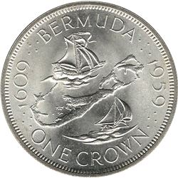 Bermuda 1959 Silver Crown