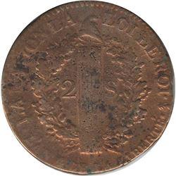 France 1792A 2 Sols