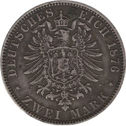 German States Prussia 1876 2 Mark