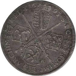 German States Saxony-Albertine 1693 IK 2/3 Thaler