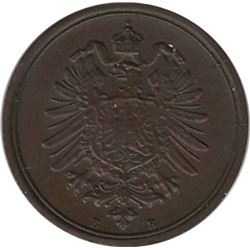 Germany 1875B 1 Pfennig