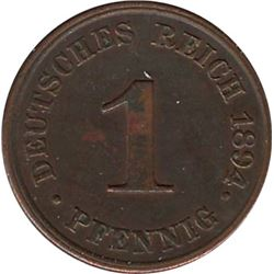 Germany 1894J 1 Pfennig