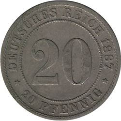Germany 1887F 20 Pfennig
