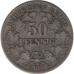 Germany 1877E 50 Pfennig