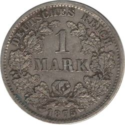 Germany 1875F Silver 1 Mark
