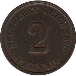 Germany 1876J 2 Pfennig