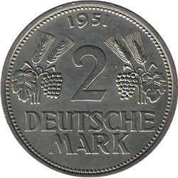 Germany 1951F 2 Mark