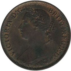 Great Britain 1881H Farthing