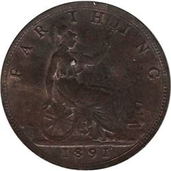 Great Britain 1891 Farthing