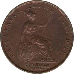 Great Britain 1853 1/2 Penny